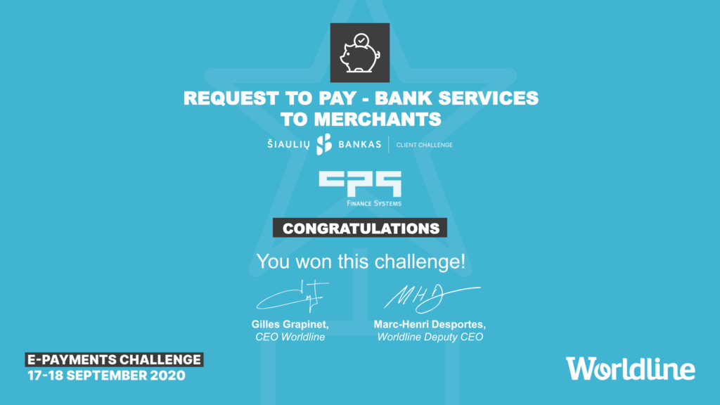 Šiaulių Bankas Business Challenge: Request to pay - Bank services to merchants